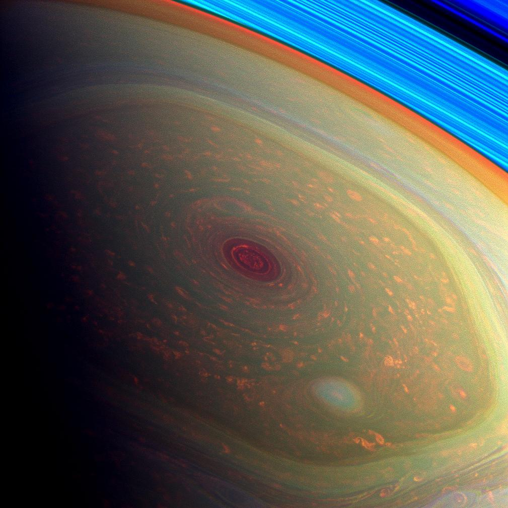 Massive Storm on North Pole of Saturn