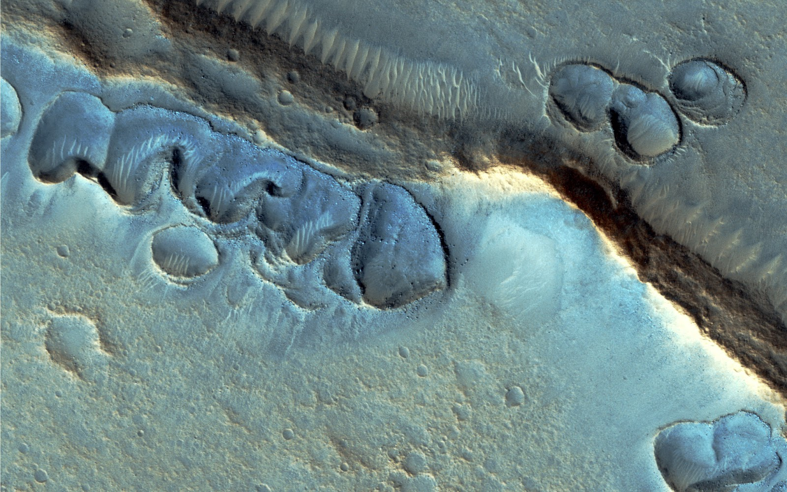 Unusual Topography in Acidalia Planitia by HiRise
