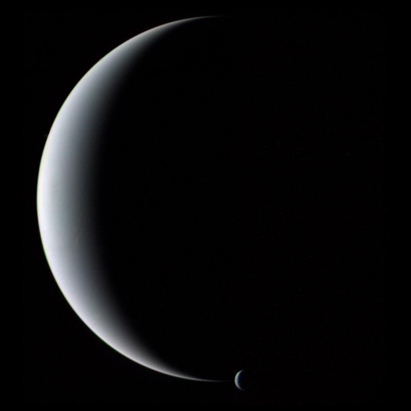 Voyagers Look at Triton, Neptune's moon