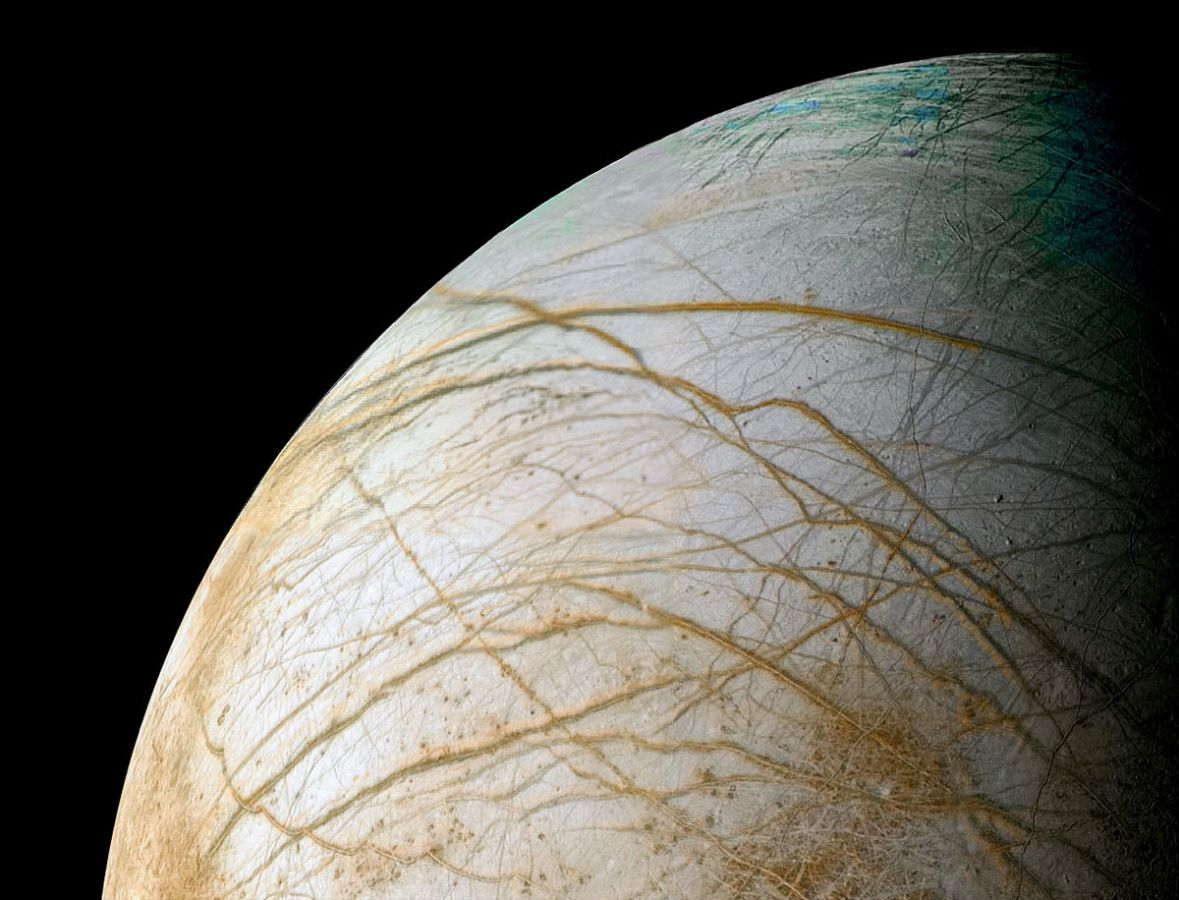 Europa - Quarter View - Jupiters Moon