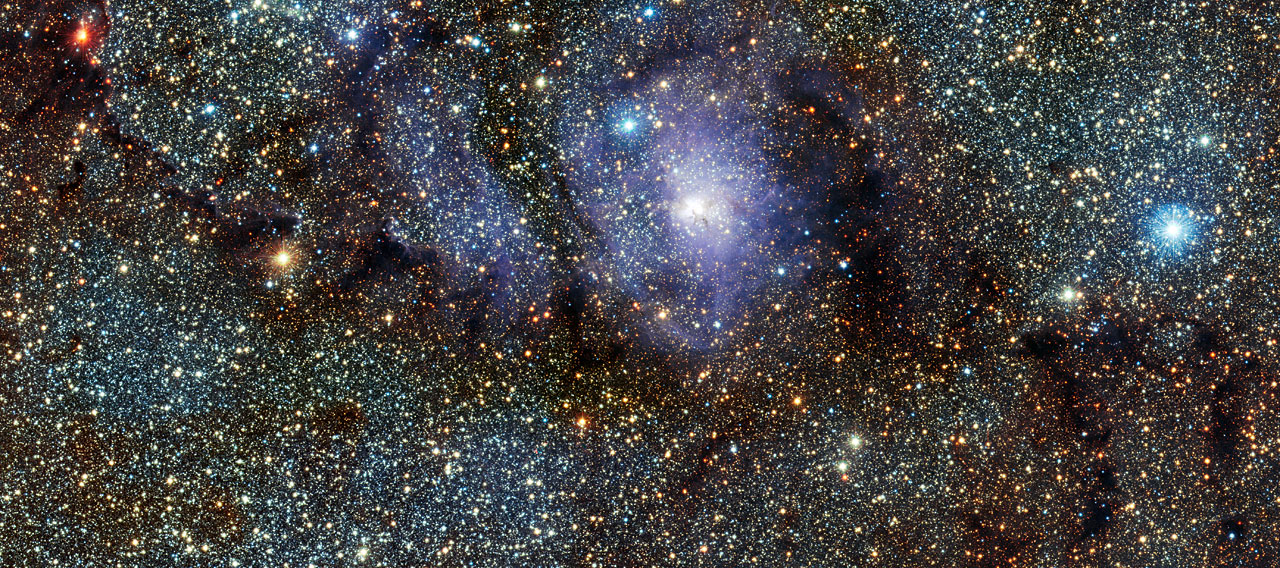 VISTA's infrared view of the Lagoon Nebula (Messier 8)