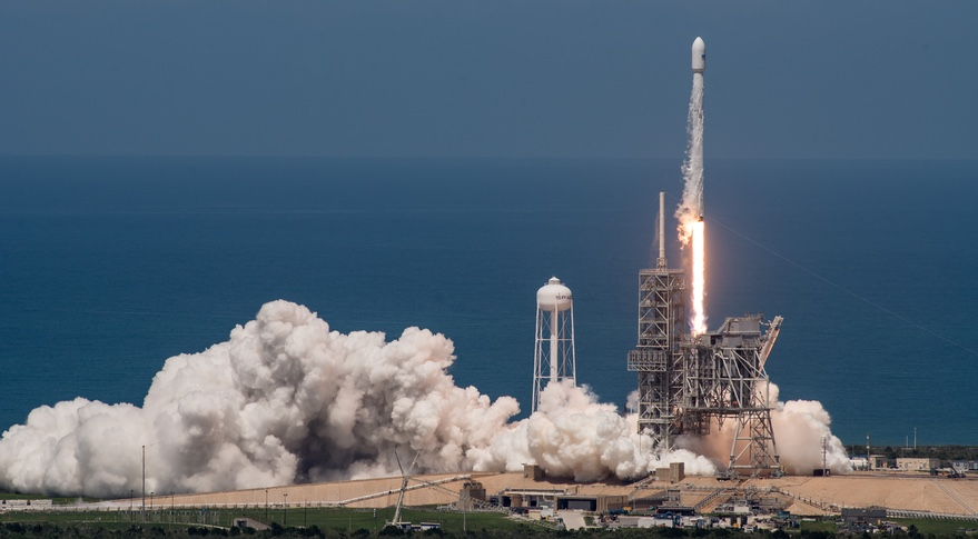 SpaceX launches satellite on reused rocket