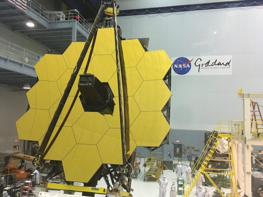James webb space telescope - gold plated mirrors