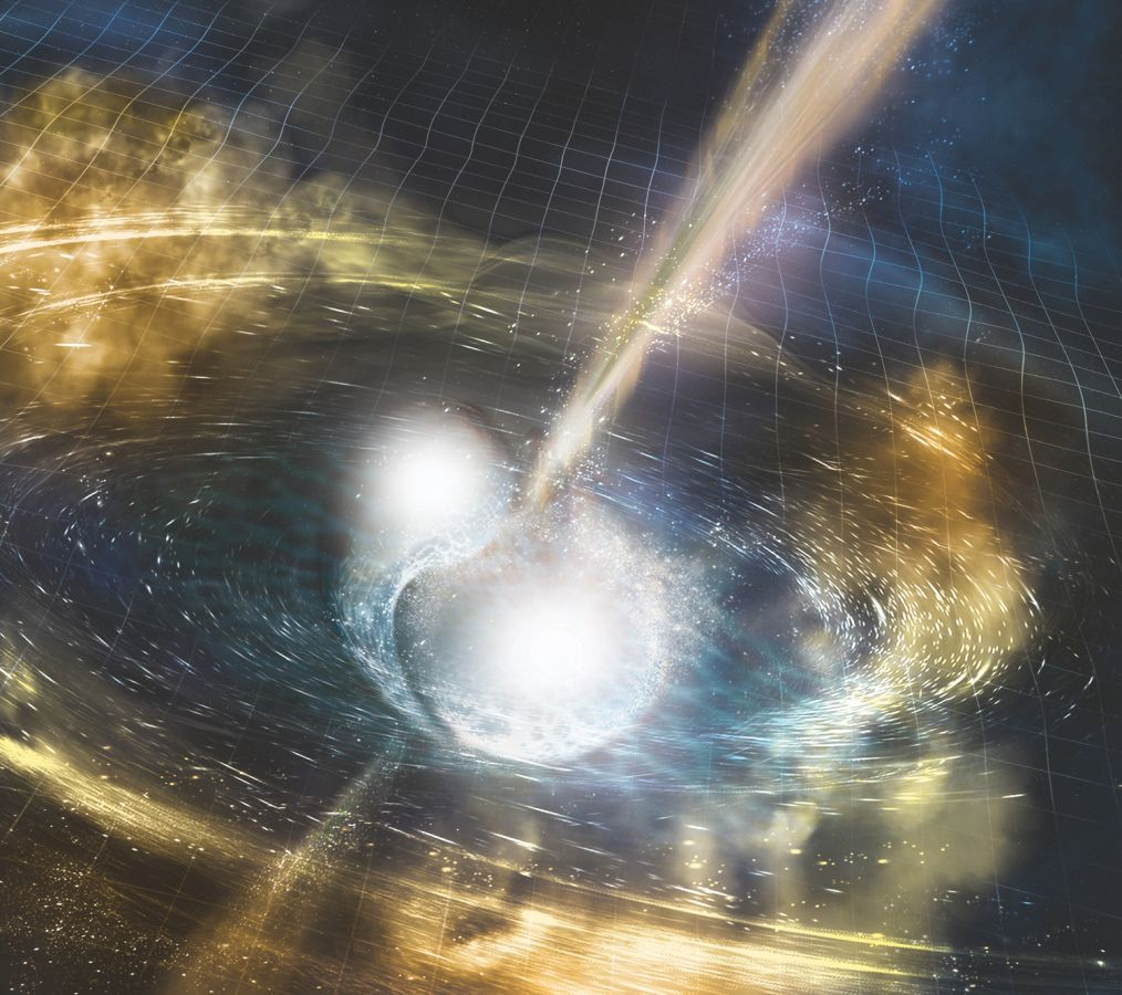 Two neutro stars colliding - gravitational waves - LIGO